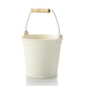Bucket w / Metal & Wood Handle